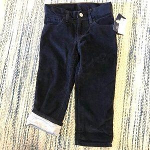 Gap denim lined corduroy pants.